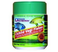 Ocean Nutrition Cichlid Vegi Flake maistas žuvims; 34g, 71g