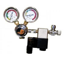 CO2 Pression reducer including Needle Valve and solenoid valve.